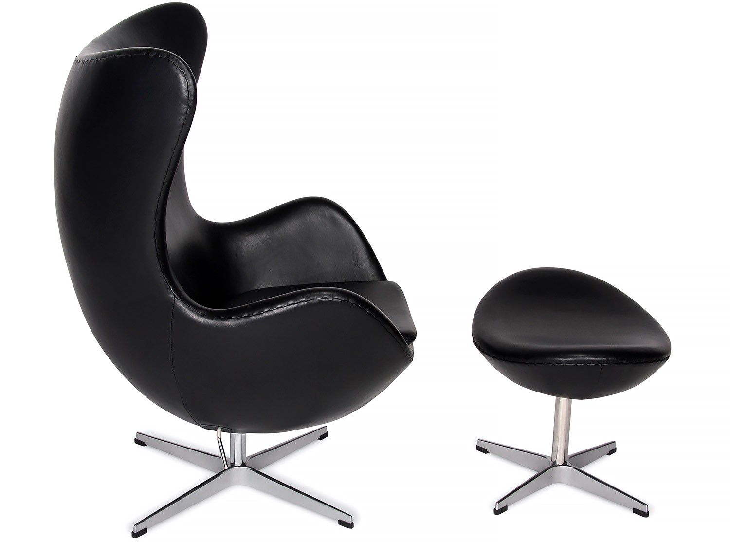Arne Jacobsen Egg Chair Replica Egg Chair By Arne Jacobsen Leather Platinum Replica Brown
