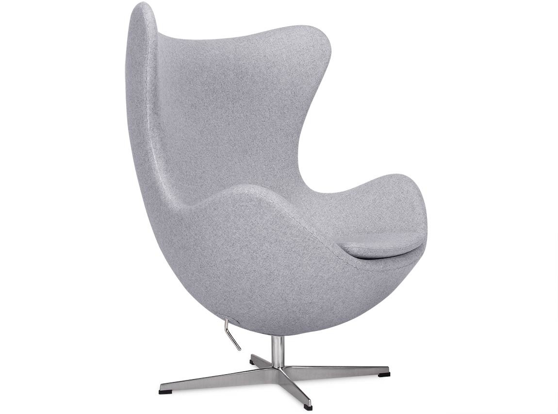 Used Egg Chair Egg Chair By Arne Jacobsen Light Grey Platinum Replica