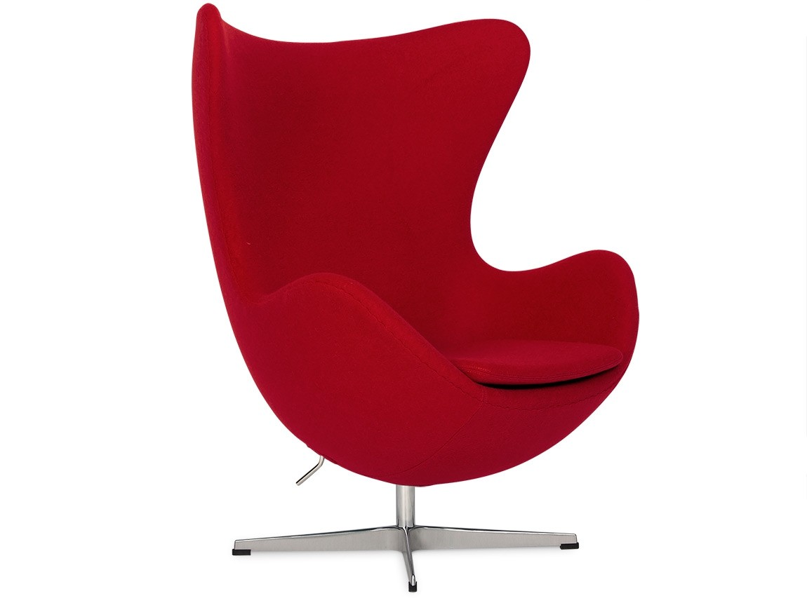 Arne Jacobsen Egg Chair Replica Egg Chair By Arne Jacobsen Red Platinum Replica