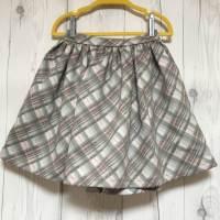 あったか生地で娘の冬物スカートを作りました