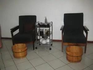 Lemon Spa manicure, pedicure area