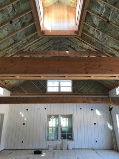 Rustic Beams Going Up at Woodside Farms.