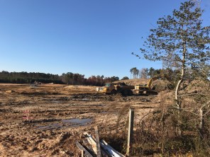 You can see the roadway going in at The Orchard.
