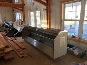 A professional grade kitchen, needs a massive hood.
