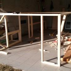 Rahmenkonstruktion für das Haus