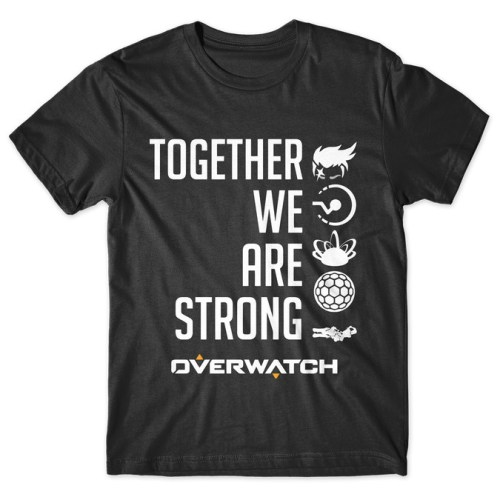 Zarya Together We Are Strong - Overwatch tshirt kaos baju distro anime kartun jepang