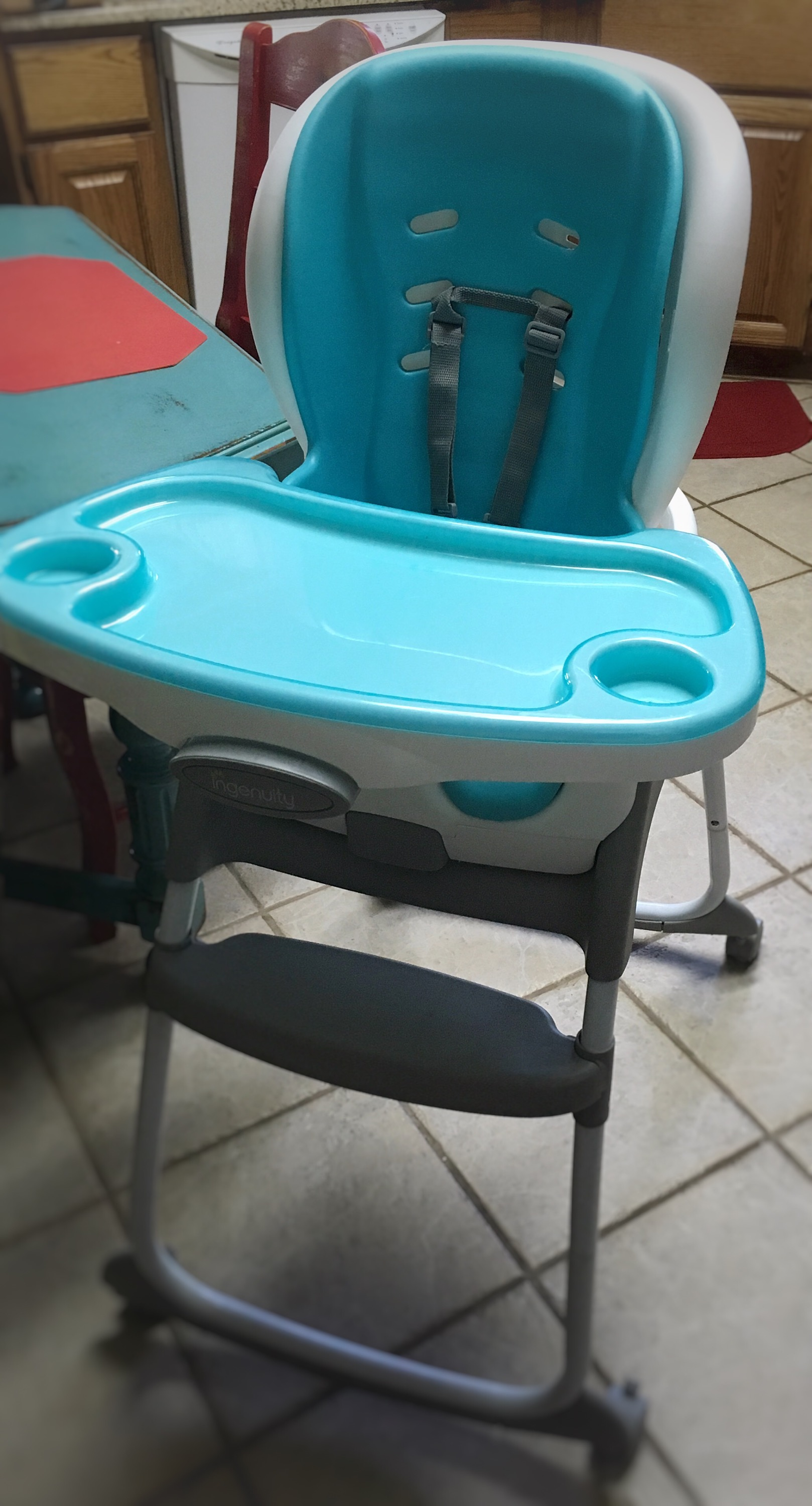 ingenuity high chair 3 in 1 cover adjustable drafting mommy review monday trio smartclean the tray comes on and off easily adjusts out to accommodate growth