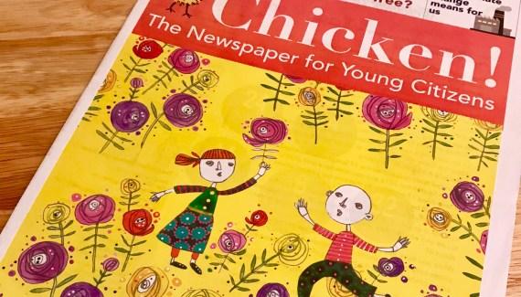 Chicken Newspaper cover