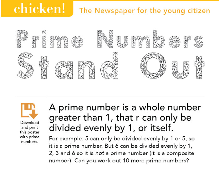 Mathematics: Prime Numbers Stand Out