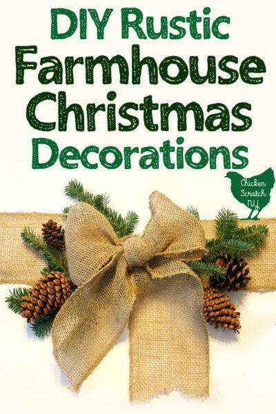 Diy Rustic Farmhouse Christmas Decor Wreaths Ornaments And More