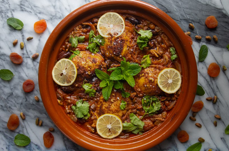 Chicken Thigh Tagine with Dried Fruit and Nuts