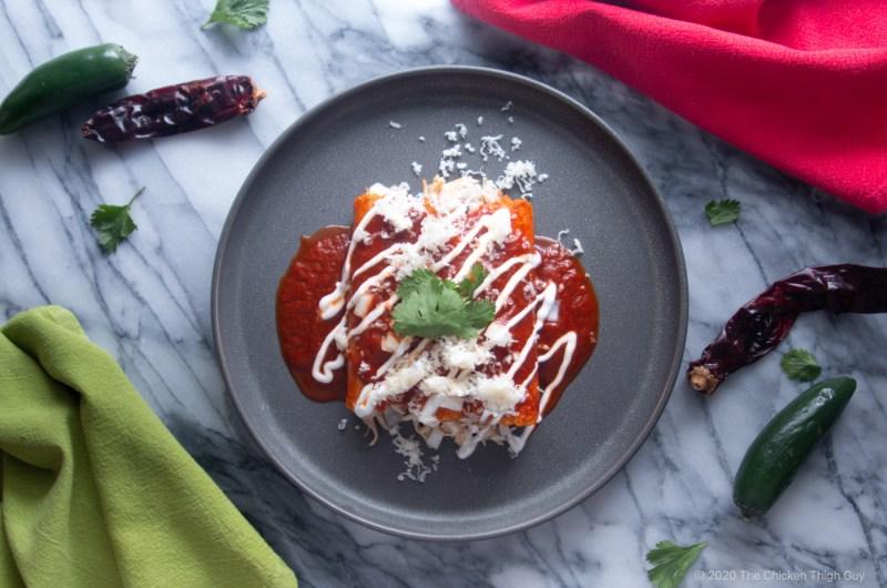 Chicken Thigh Enchiladas