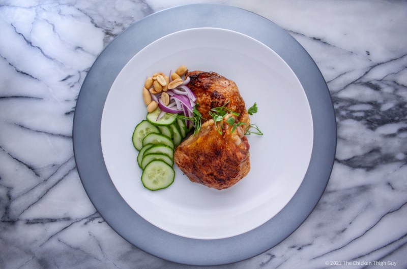 Chicken Thighs Roasted with Five-Spice Powder and Honey