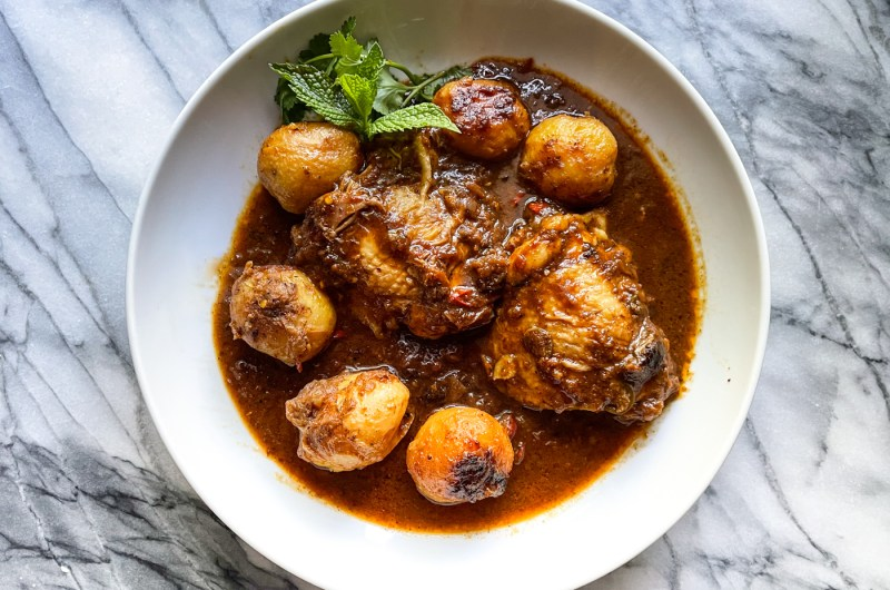 Chicken Thigh Curry with Whole Potatoes
