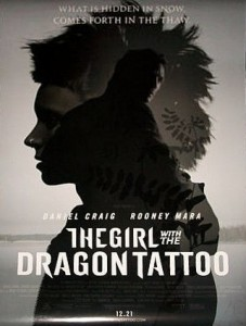 girl with the dragon tattoo2011 bw poster med ver 227x300 - The Girl with the Dragon Tattoo