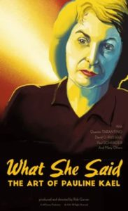 poster 780 183x300 - Review: What She Said: The Art of Pauline Kael