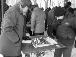 daily chess in a local park in Odessa