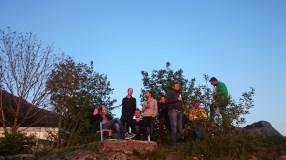 Letzter Abend über Bergen. Nicht im Bild: icke beim rauchen.