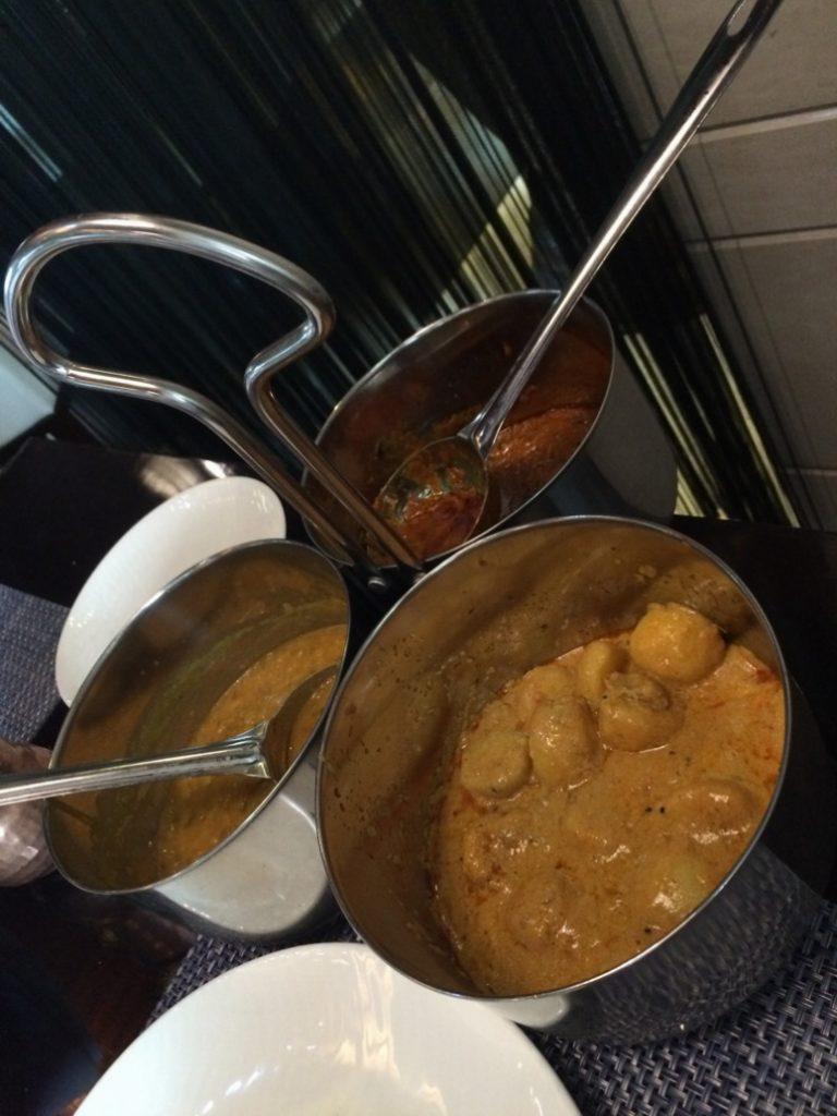 Chicken Chettinad, Dahi Alu Achari, Dal-e-Fortune