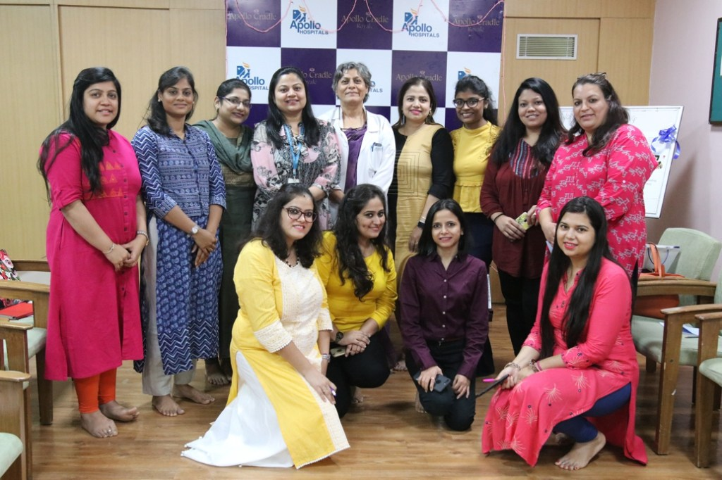 Seen in the picture are Senior Obstetrician and Gynecologist Dr Geeta Chadha and Lactation Consultant, Dr Vandana Sarkar with all participants