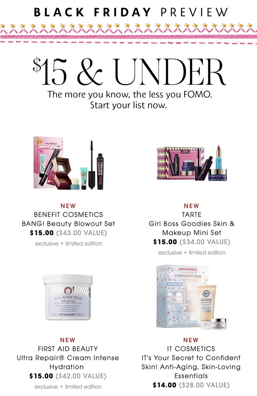 Sephora Black Friday 2019 : sephora, black, friday, Sephora, Black, Friday, Beauty, Deals, Sales