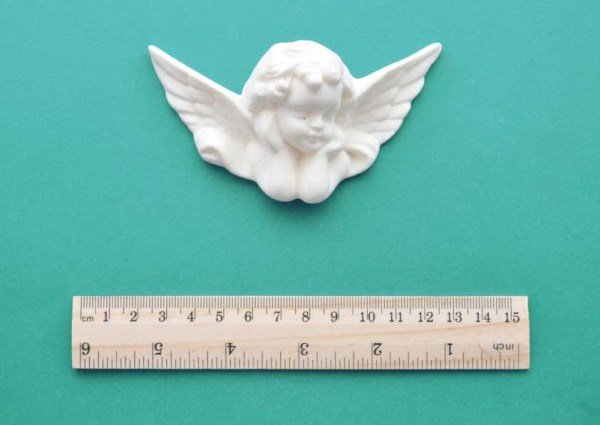 Cherub Head and Wings Resin Moulding