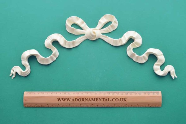 Extra Large Loopy Ribbon Bow Resin Moulding