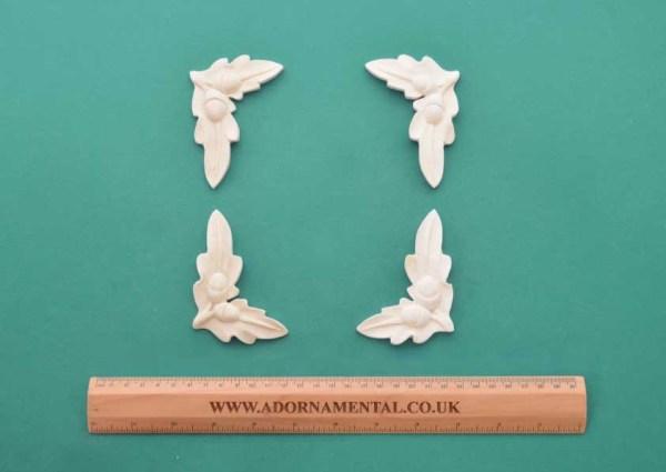Acorn Corners - x 2 Pairs Resin Moulding