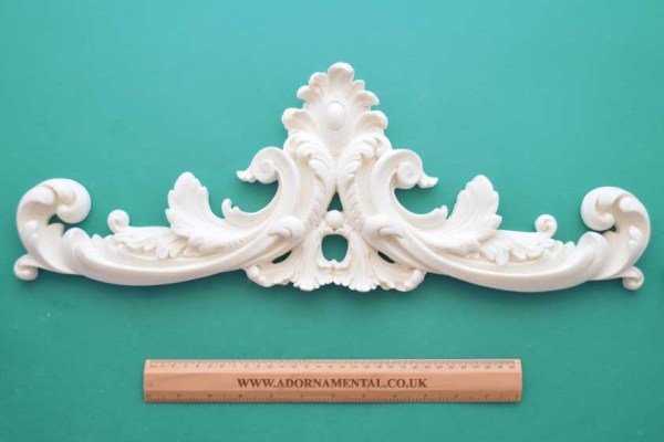 Large Regency Plume Pediment