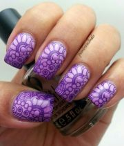 stunning purple nail design