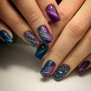 stunning purple nail design