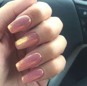 rose gold nail design