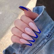 colorful coffin acrylic nails