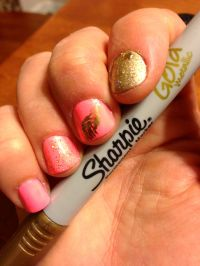 How to do feather nail art with a Metallic Sharpie! - Chic ...