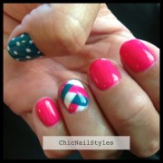 summer braided nail design - chic