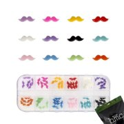 bmc 60pc mixed color acrylic mustache