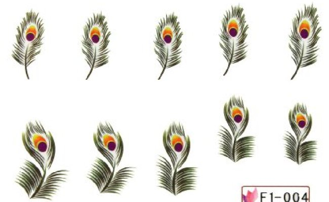 Ggsell Miao Yun Feather Water Transfer Decals Nail
