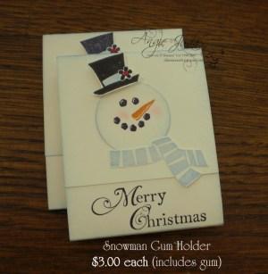 Snowman Gum Holder
