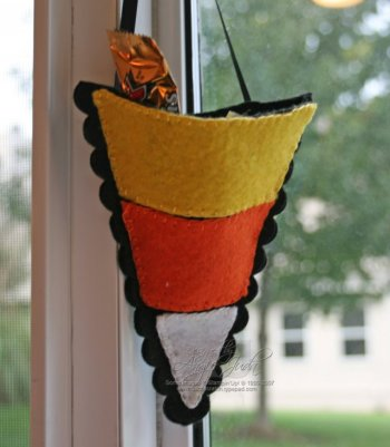 Candy Corn Treat Bag Part One