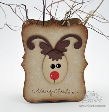Reindeer Top Note Box