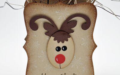 Reindeer Top Note Box