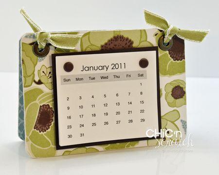 Rectangle Coaster Calendar