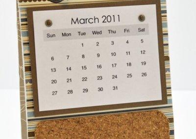 Calendar Coaster Corkboard