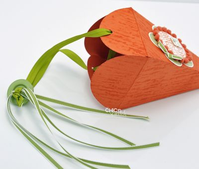 Petal Cone Carrot ribbon
