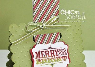 12 Days of Christmas #3 Merry & Bright Treat Holder