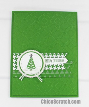 Merry Mistletoe Christmas Tree Card