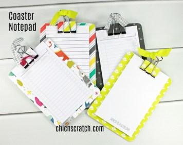 Coaster Notepad