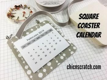 Square Coaster Calendar