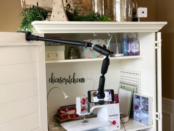 Sewing Videos with Arkon Mount
