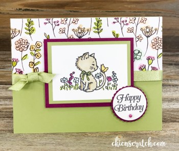 Pretty Kitty Birthday Card
